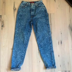 Sasson Vintage high waisted acid washed Mom Jean